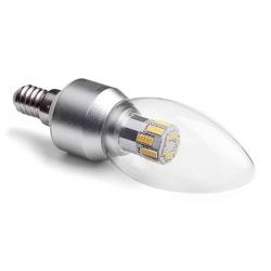 LED svíčka E14 6W CL B37 2700K DIM