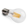 LED vláknová žárovka E27 6,2W CL A60 2700K Ra90 DIM