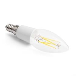 LED vláknová svíčka E14 3W CL B35 2700K Ra90 DIM