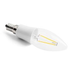 LED vláknová svíčka E14 2W CL B35 2700K